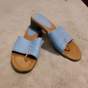 Slip on flip flop heels
